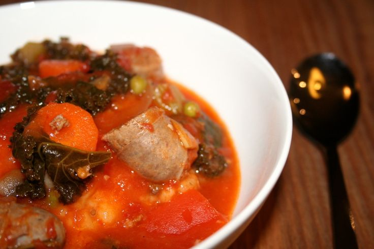 Sausage, Kale and Cannellini Bean Stew