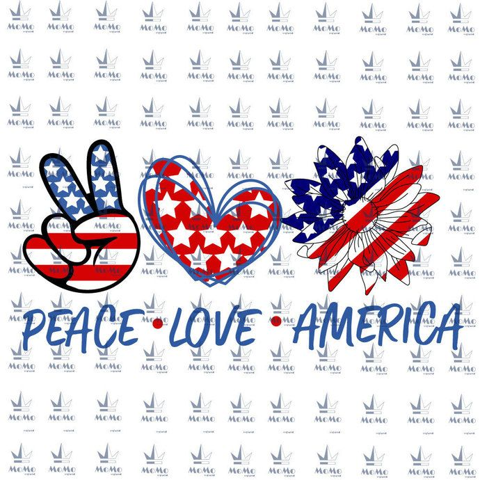 Download Peace-Love-America, Hand Sign, American Flag, Independence ...