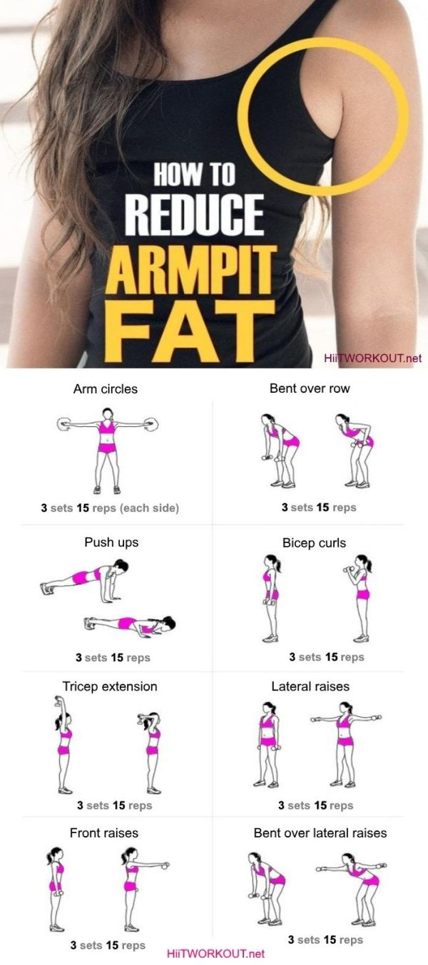 Effective Workout To Get Rid Of Armpit Fat Fast by alexandria