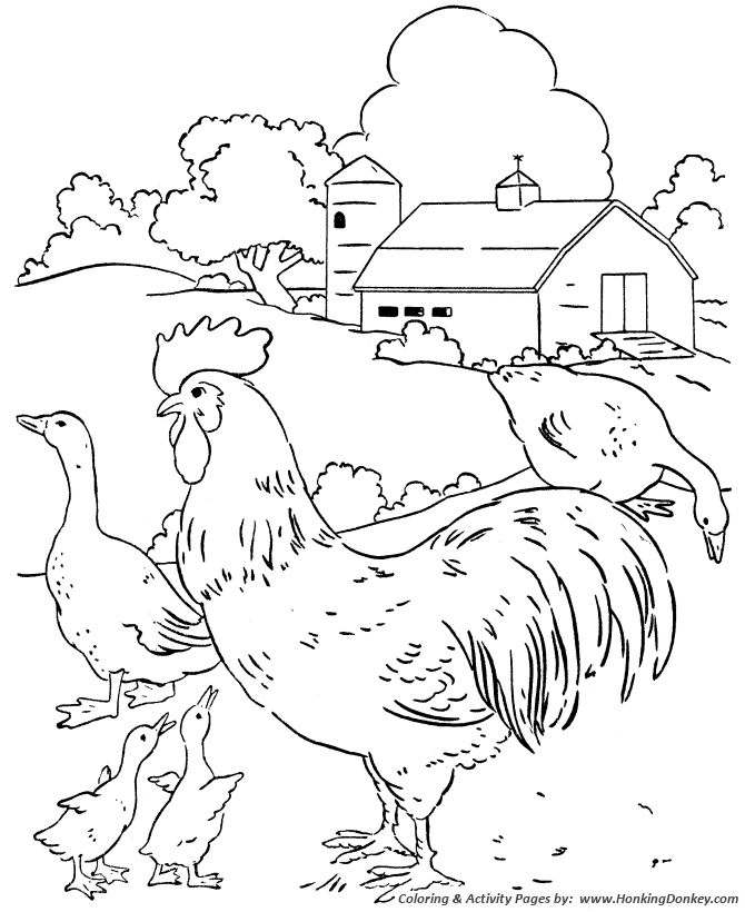 23 best Coloring Pages Farm Life images on Pinterest | Coloring ...