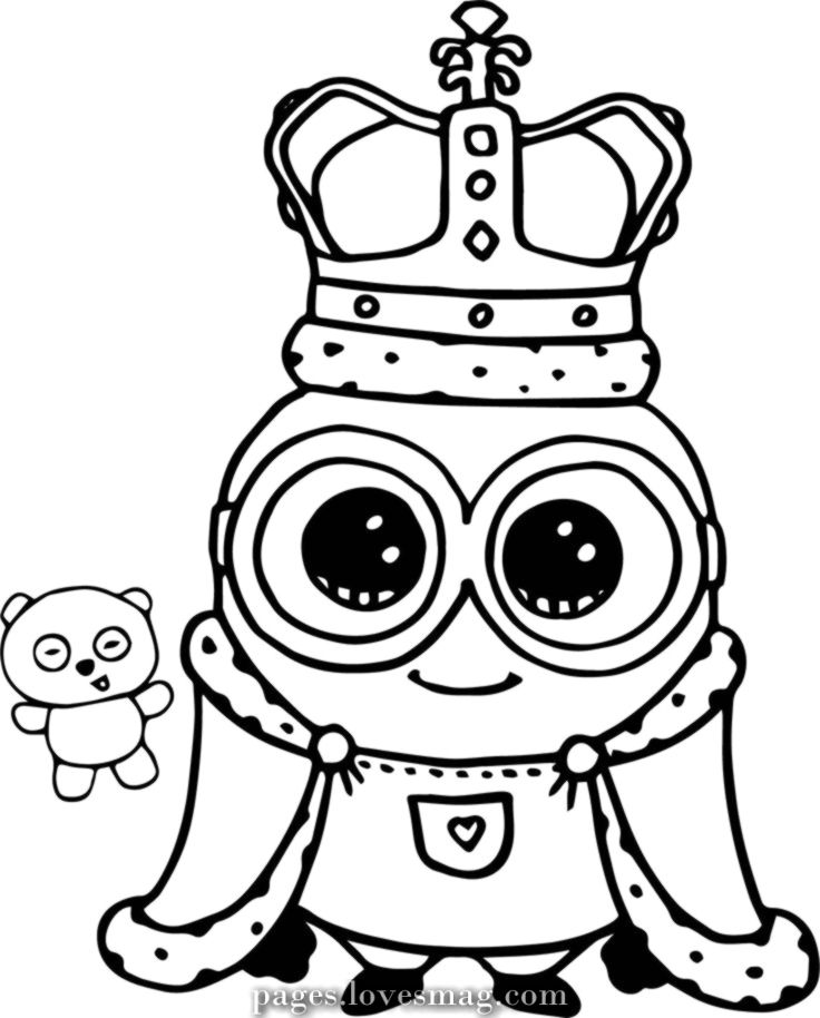 Fantastic Take Your New Coloring Pages King Free Www Gethighit Com Minion Coloring Pages Cute Coloring Pages Minions Coloring Pages