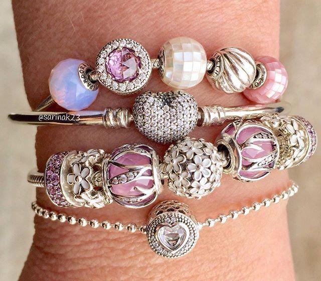 We love this combination of PANDORA Essence and classic PANDORA bracelets! #PANDORATexas #PANDORAbracelets