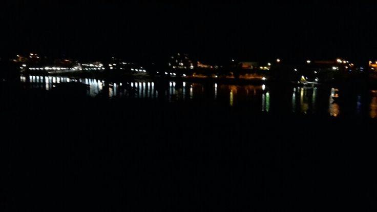 Night photo a cross the river Bundaberg Qld