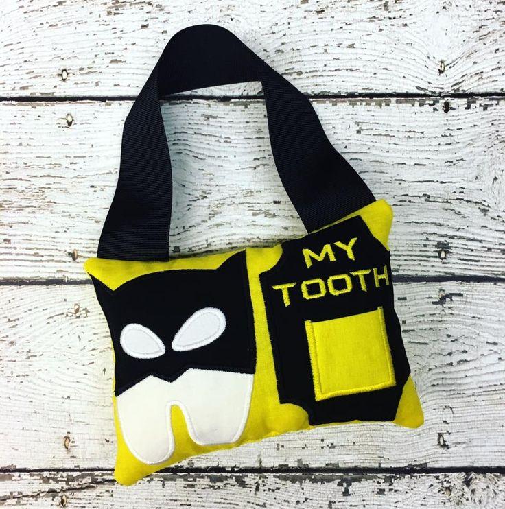 Best 25 tooth fairy pillow ideas on pinterest tooth for Batman fairy door