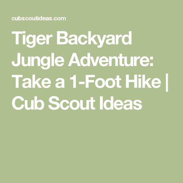 Backyard Jungle Requirements : Jungles, Tigers and Cub scouts on Pinterest