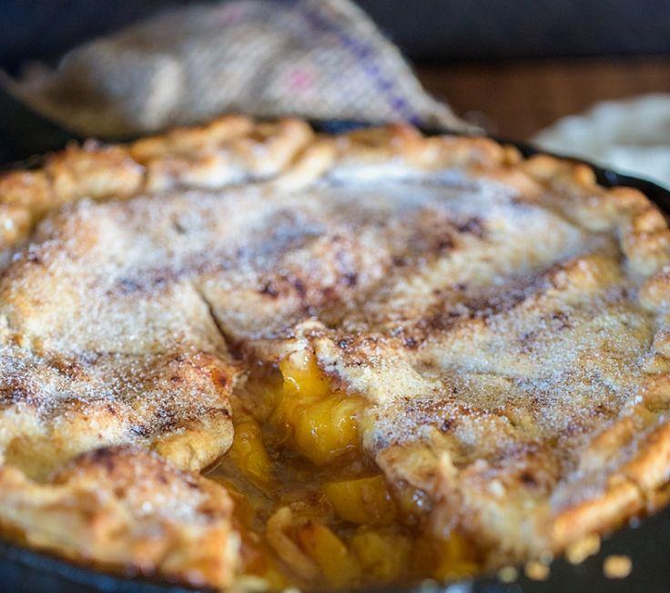 Pfirsichpastete mit Zimtschlagsahne   – Dessert