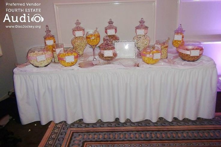 Kate and Rich arranged for a tempting candy buffet after dinner.  #RealChicagoWedding