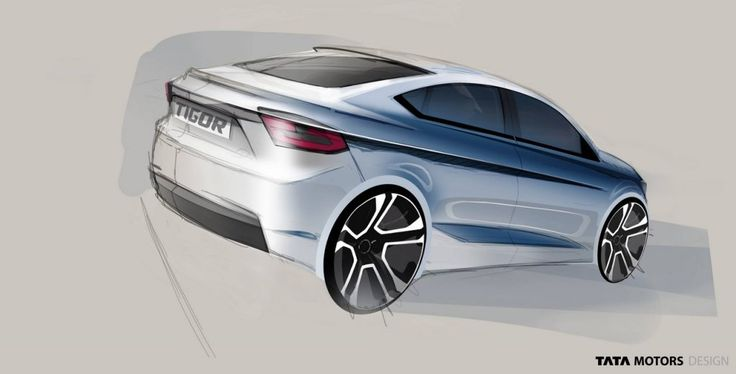 #Tata #Tigor (Tata #Tiago-based sedan) #Styleback teased