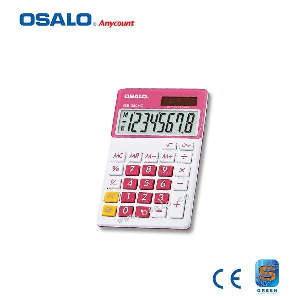 check price os 280vc 8 digit display plastic calculator dual power colorful electrical lcd screen solar #solar #screens
