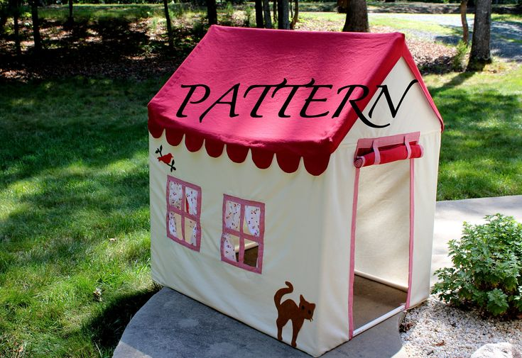 Fabric Playhouse with PVC frame - Fort - PVC Playhouse - via Etsy.