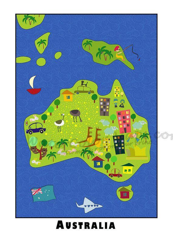 kids map of australia pdf