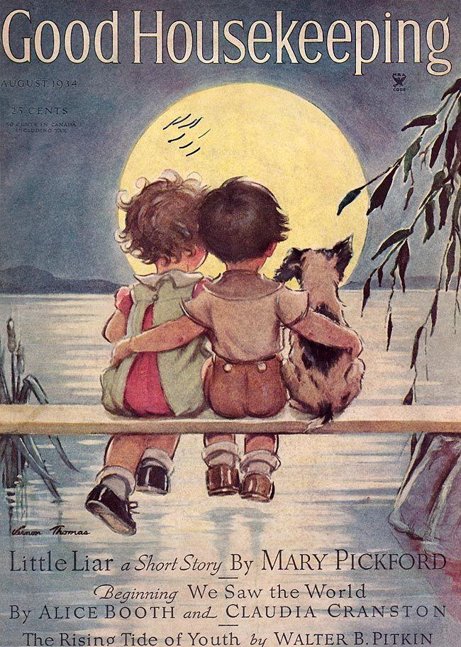 Good Housekeeping  -  Aug 1934  Illustration by Vernon Thomas