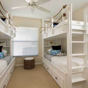 10 Queen Bunk Beds with Stairs Inspiration for a Beach Style Kids with a Bunk…