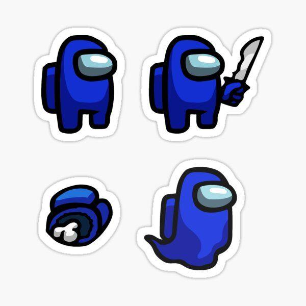 Among Us Hd Blue Imposter Sticker By Mattxc Redbubble Cute Stickers Bubble Stickers Fun Stickers