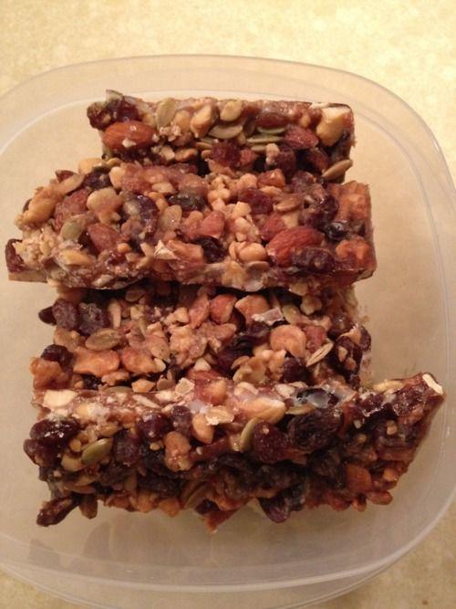 Paleo Honey Nut Bars | Mmmmmmmmmmmmmm | Pinterest