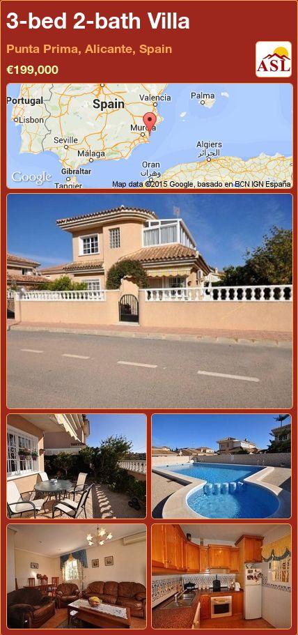 3-bed 2-bath Villa in Punta Prima, Alicante, Spain ►€199,000 #PropertyForSaleInSpain