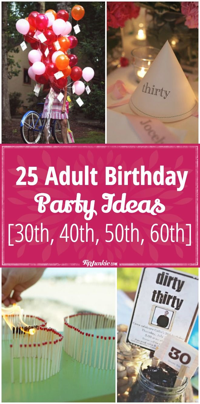 358 Best Adult Birthday Party Ideas 30Th, 40Th, 50Th, 60Th Billeder på-9138