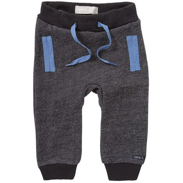Clothing at Tesco | Name It Ludvig Joggers > trousers > Baby Boys >... ❤ liked on Polyvore featuring baby and baby boy