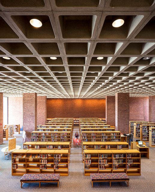 Cleo Rogers Memorial County Library by I.M. Pei (1969). Columbus, IN. Photo ©Darren Bradley