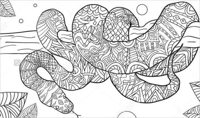 Animal Mandala Snake Coloring Pages Snake Coloring Pages Puppy Coloring Pages Mandala Coloring Pages