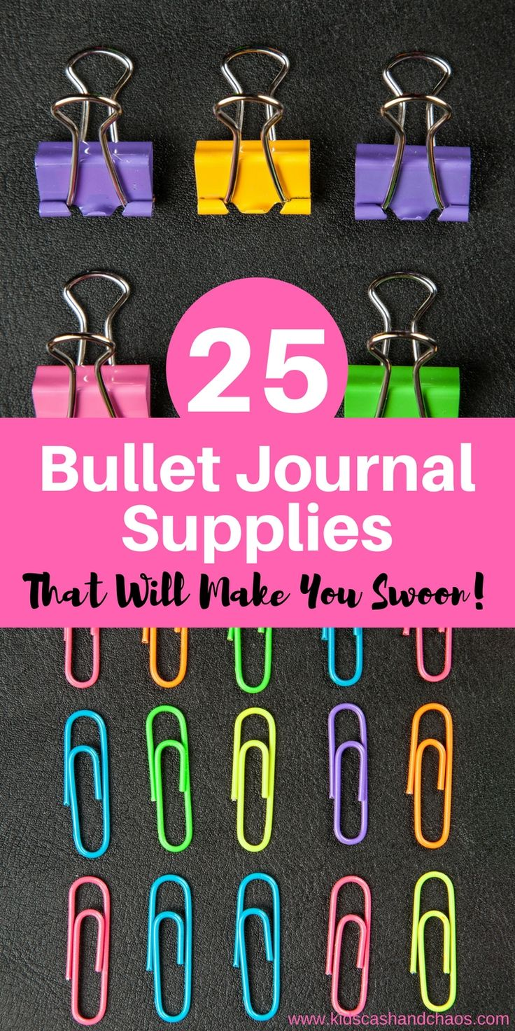 Your bullet journal can be a great creative outlet. Check out this list of beautiful and amazing bullet journal supplies #bujo #bulletjournalsupplies #workathomemomorganization
