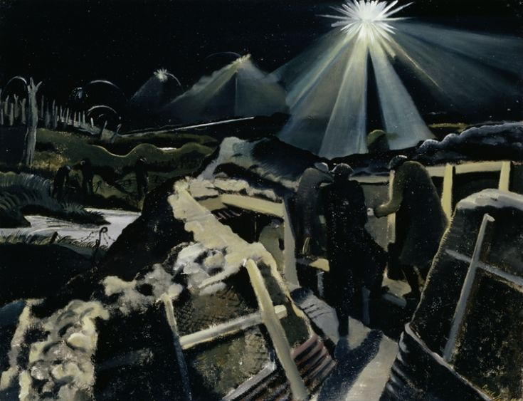 <em>The Ypres Salient at Night</em>, 1918, by Paul Nash.