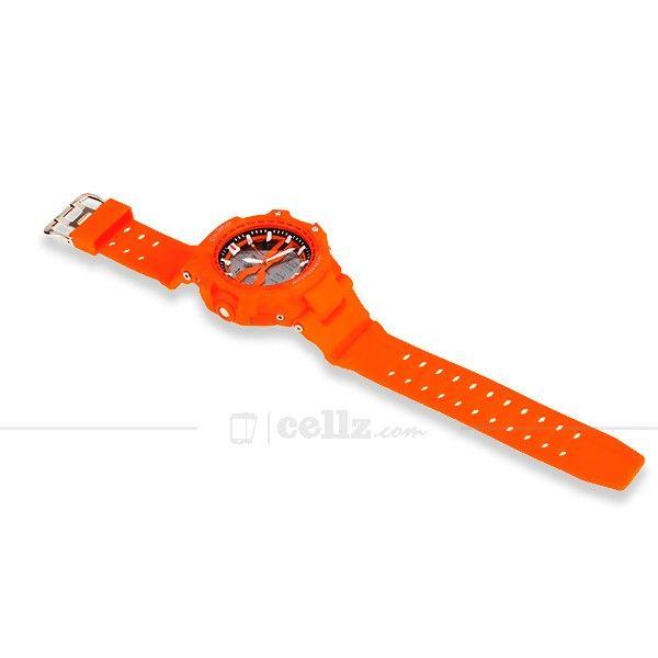 Orange Sport Multifunctional Watches Water Resistant #cellz #watches #waterproof #sport