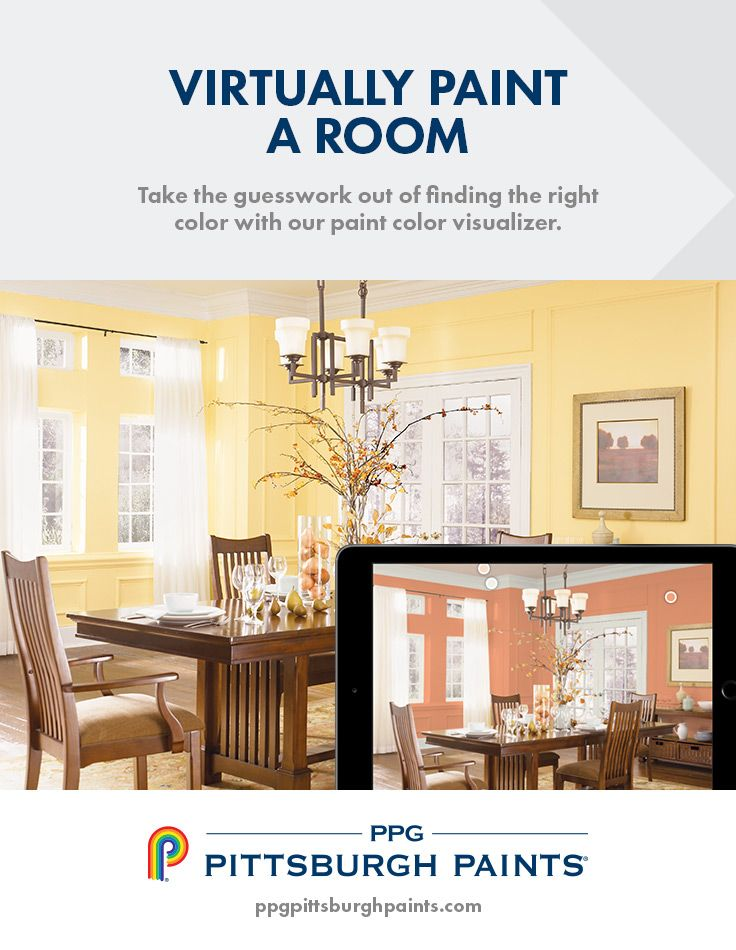 Take the guesswork out of finding the right color with our paint color visualizer. Upload any photo and color match it to any of our 2,000+ PPG Pittsburgh paint colors. Click any color to find complementary colors, get a color sample, and much more.