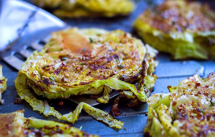 This roasted cabbage steaks recipe is simple, fast and delicious. With a sweet-savory balsamic and honey glaze, these thick cabbage slices broiled in the oven are perfect to accompany your grilled ...