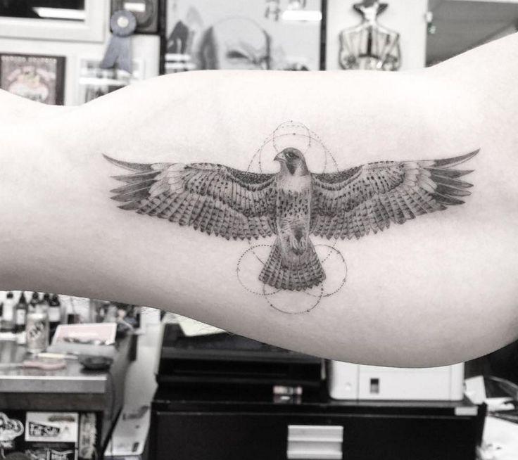 Dr. Woo Tattoo Artist | Half Needle Tattoo | Falcon                                                                                                                                                                                 More