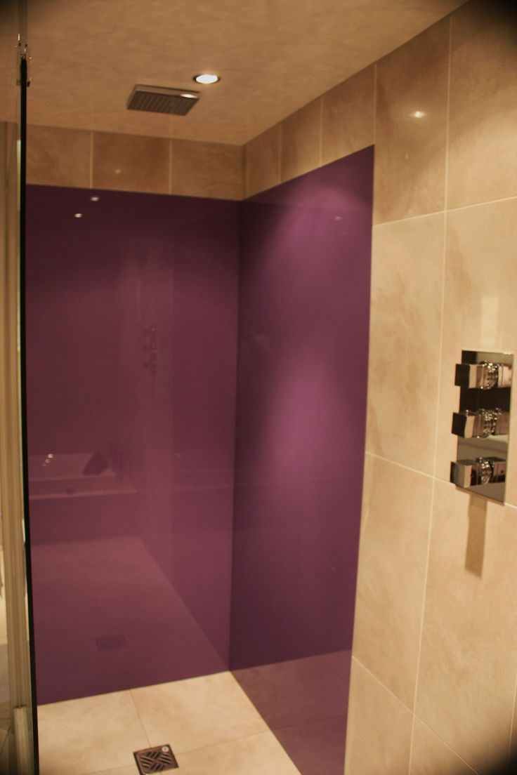Glass wall panels bathroom - Bathroom Splashback Fitted In Bathroom Variety Of Colours Available
