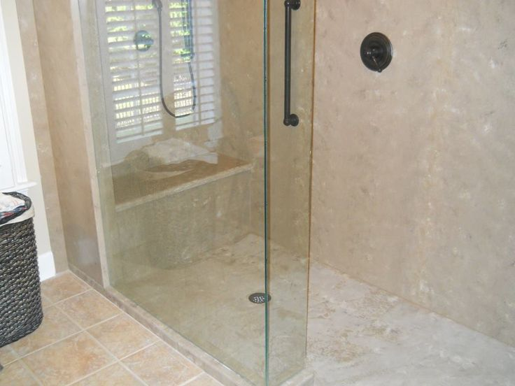 Though most commonly used to create beautiful, durable countertops, solid  surface material (like DuPont Corian or LG Hi-Macs brands) is an ideal  material for creating gorgeous walk-in showers and tub surrounds. At  Countersync, we fabricate and install solid surface showers in homes  throughou