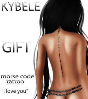 """::KYBELE:: Morse Code Tattoo """"iloveyou"""""""