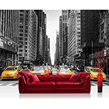 Liwwing FTVLPP-0210-400X280 - Vellón de fondos de escritorios 400x280cm - cima! premium plus fondo de pantalla! murales de papel tapiz mural xxl imagen mural pintado pared wanddeko horizonte manhattan taxis -. n ° 210