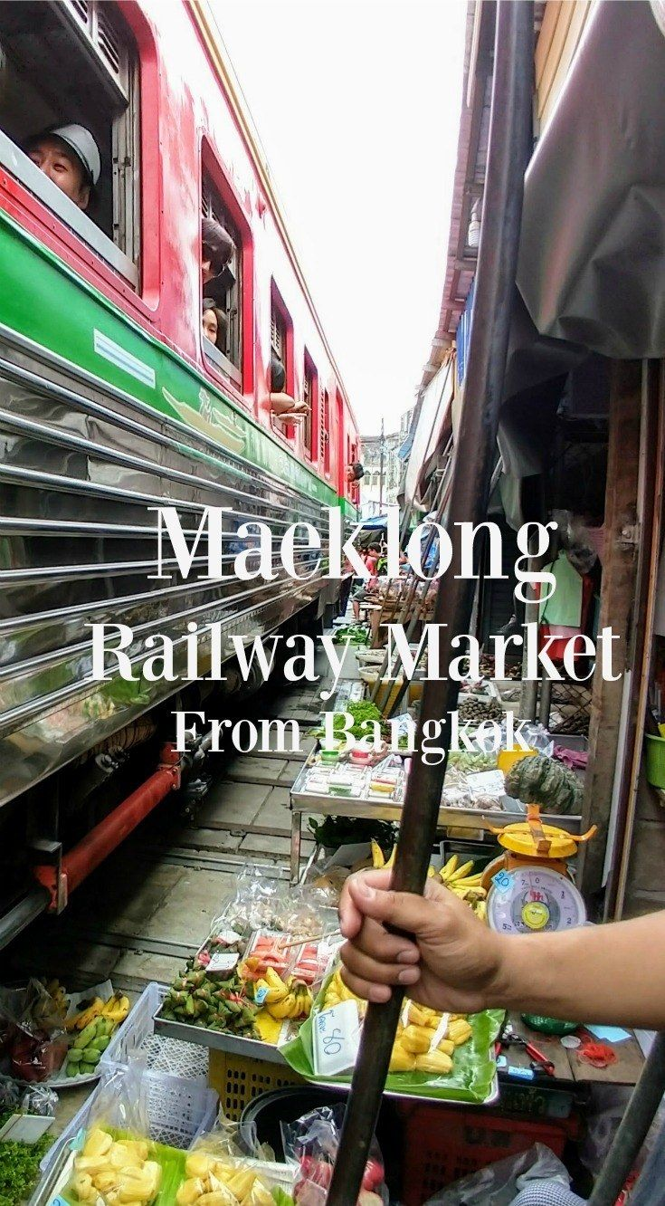 Maeklong Railway Market in Samut Songkhram, Thailand. Why you should go and how to get there from Bangkok. #thailand #trains
