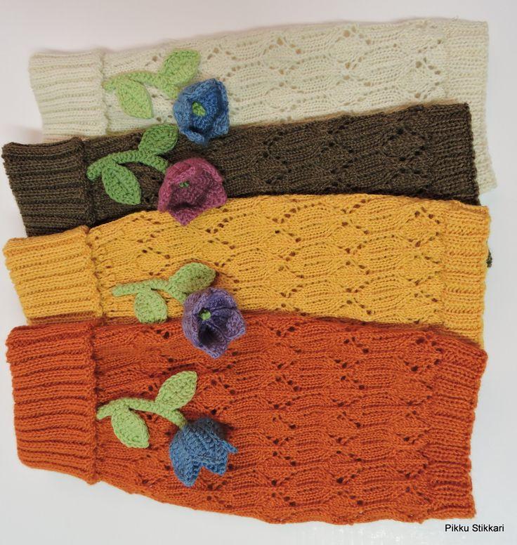 BellFlowers & lace legwarmers, Finnish Sheep Wool Yarn