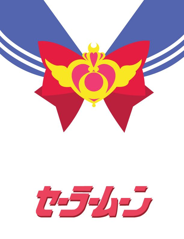 #SailorMoon minimalist poster - also an excellent tattoo idea with the heart shape