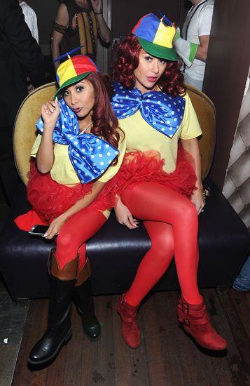 Snooki & JWoww As Tweedle Dee & Tweedle Dum | Halloween ...