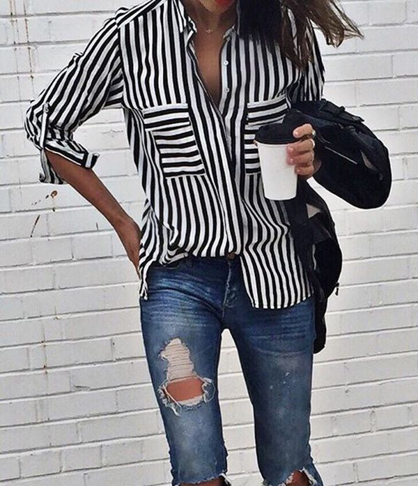 the essential core striped shirt and how to wear it