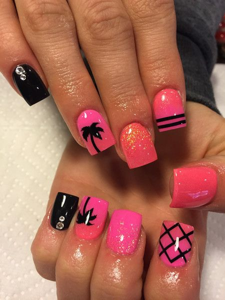 Black | X Marks The Spot Full Nail Decal Nail Art | Nail Decals| Full Nail Decal