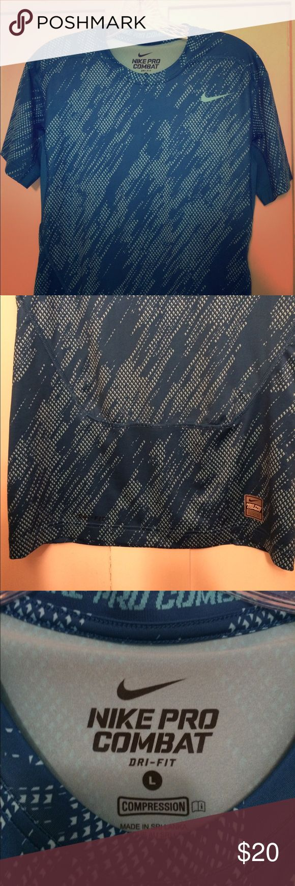 Nike Pro Combat Tee The Dri-fit material that wicks away moisture. Nike Shirts Tees - Short Sleeve