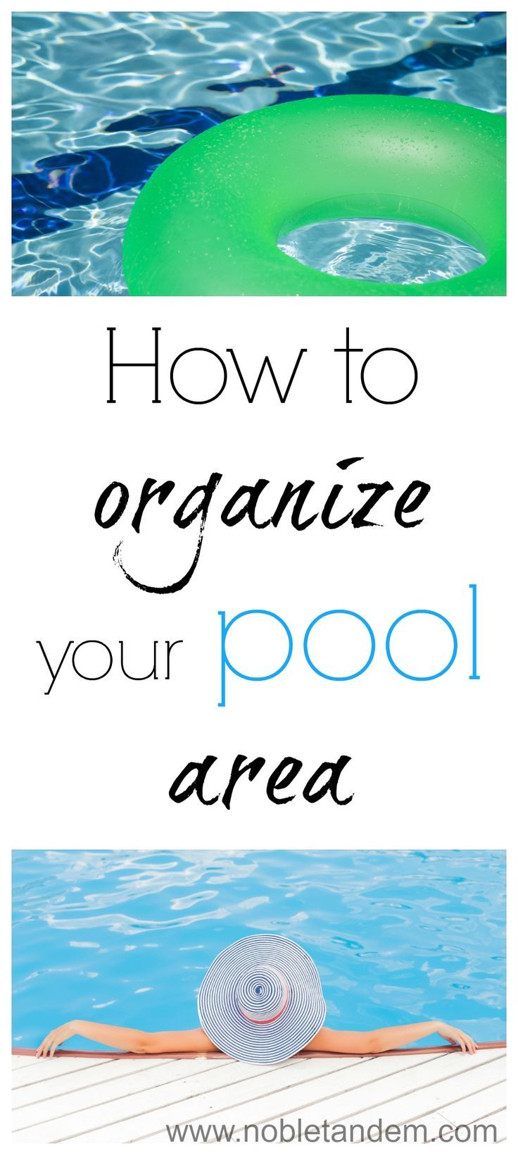How to organize your pool area / Organiser sa cours extérieure