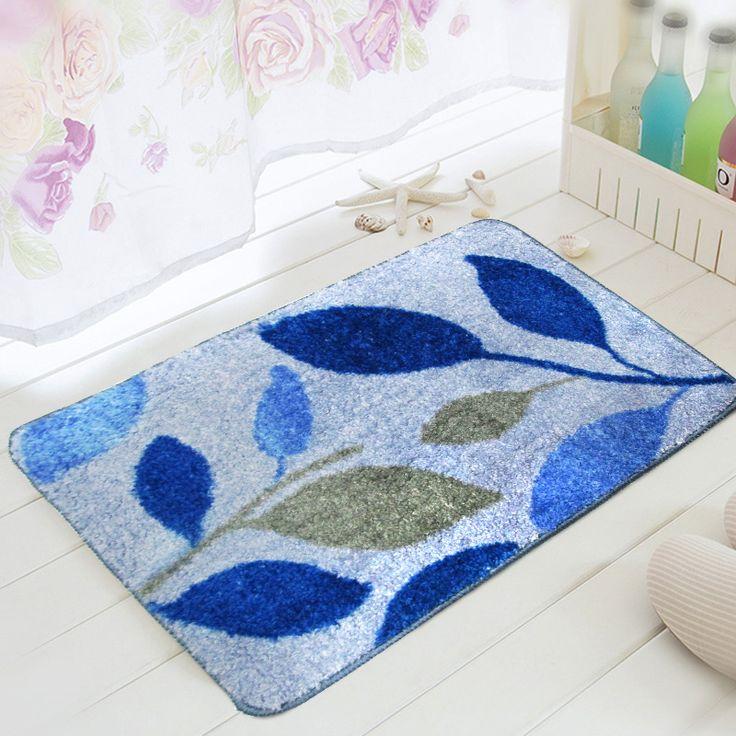 40cmx60cm cartoon leaves bath rug mats bathroom antislip mats for bathroom entrance bathroom rugs