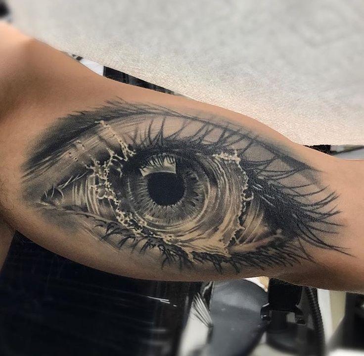 Tattoo Ideas Eyes: Beautiful Eye Tattoo, Very Realistic, Body Art, Ink, Skin