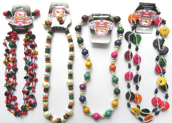 Wholesale 4 Pcs Lot Multy Color All Different by latacreations77, $17.00: Beaded Necklaces, Lot Multy, Multy Color