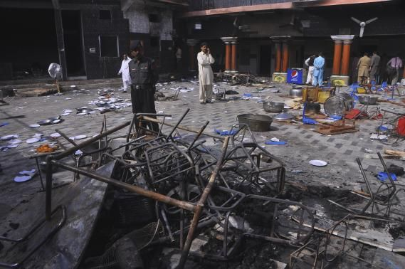 Hindu Temple Set On Fire In Pakistan By Religion Of Peace members. Muslims are incapable of living alongside other faiths in peace