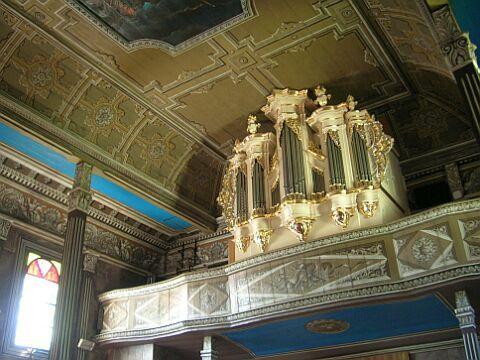 Sklepienie zwierciadlane. Kościół drewniany w Zgórsku (woj. podkarpackie)