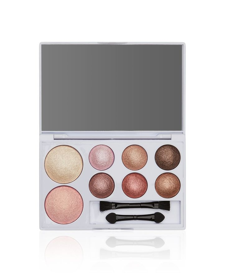 Get set to shine with The Nude Edit. This compact take- anywhere kit includes a collection of creamy and shimmered baked eye and cheek colours with applicators. Not tested on animals.