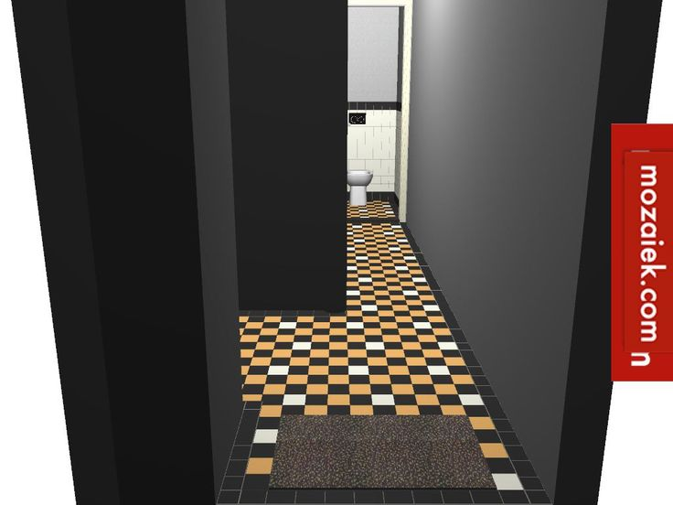 ontwerp tegelvloer gang en toilet jaren 30 woning Amersfoort Dit ontwerp voor een tegelvloer is