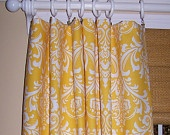 CUSTOM CURTAINS Premier Fabric Damask by Cathyscustompillows